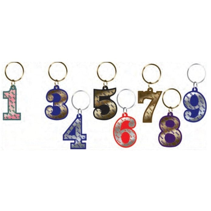Line Number Key Chain - Sigma
