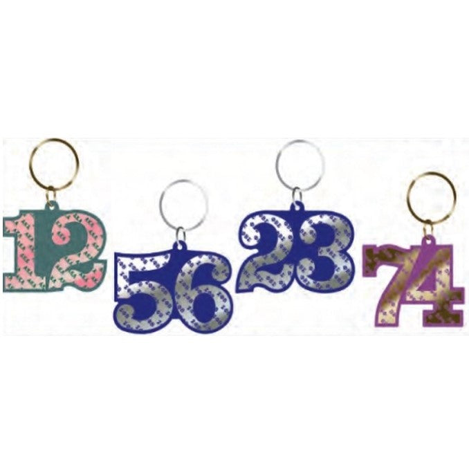 Alpha Line Number Key Chain