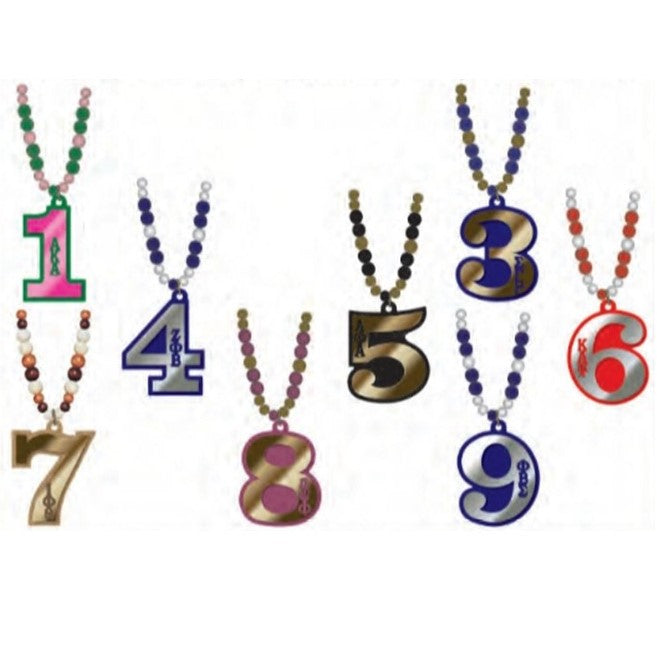 Delta Line Number Tiki Beads