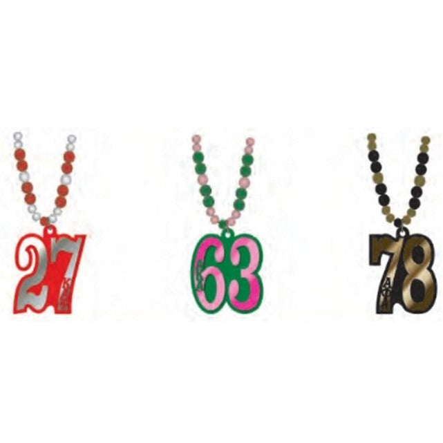 Alpha Line Number Tiki Beads
