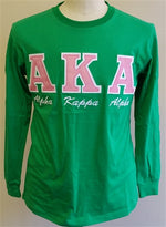 AKA Embroidered Letters with script T-shirt BD Long Sleeves