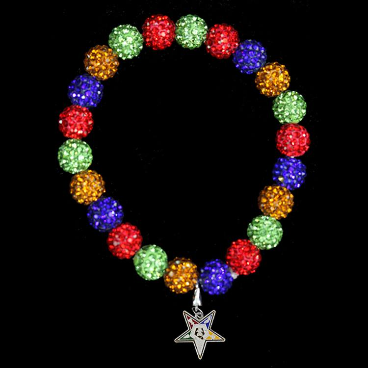 Bling Beaded Bracelet Shield - OES