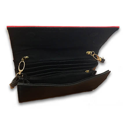 Zeta Faux Leather Crossbody Clutch Purse