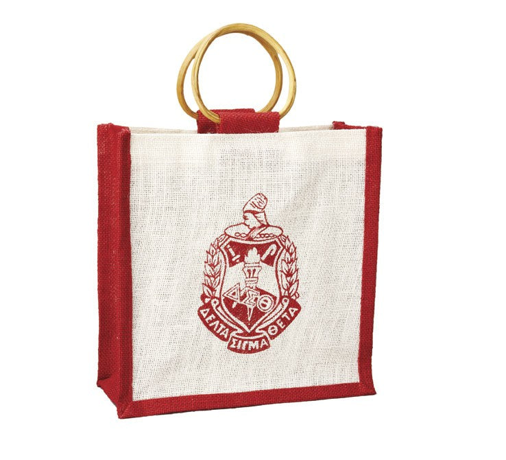 Mini Jute Bag with Shield - Delta