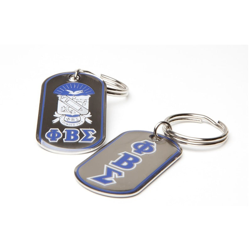 Sigma Reversible Dog Tag Key Chain