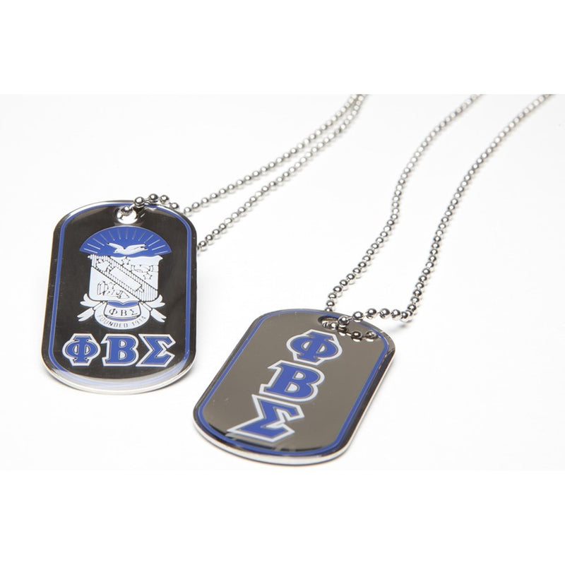 Sigma Reversible Dog Tag Necklace
