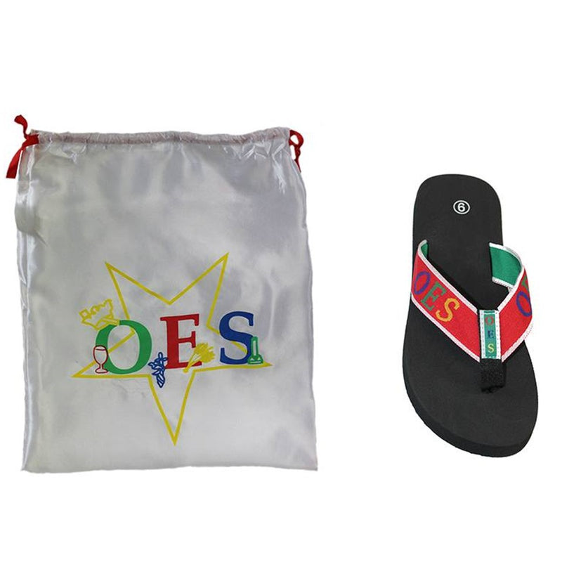 OES Flip Flops with Satin Shoe Bag
