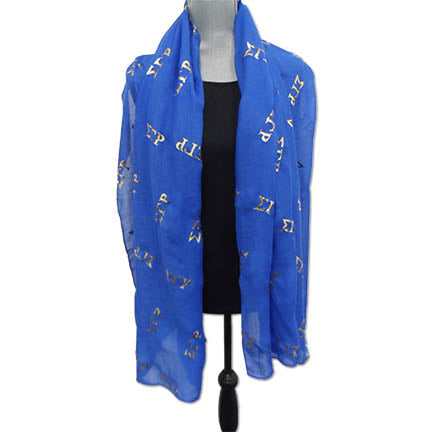 SGRho Gauze Scarf with Foil Applique