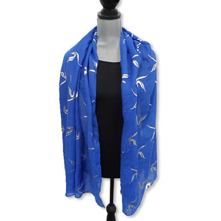 Zeta Gauze Scarf with Foil Applique