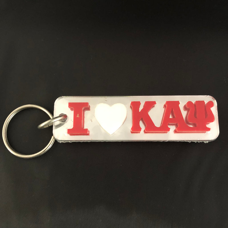 Kappa I Heart Mirror Key Chain