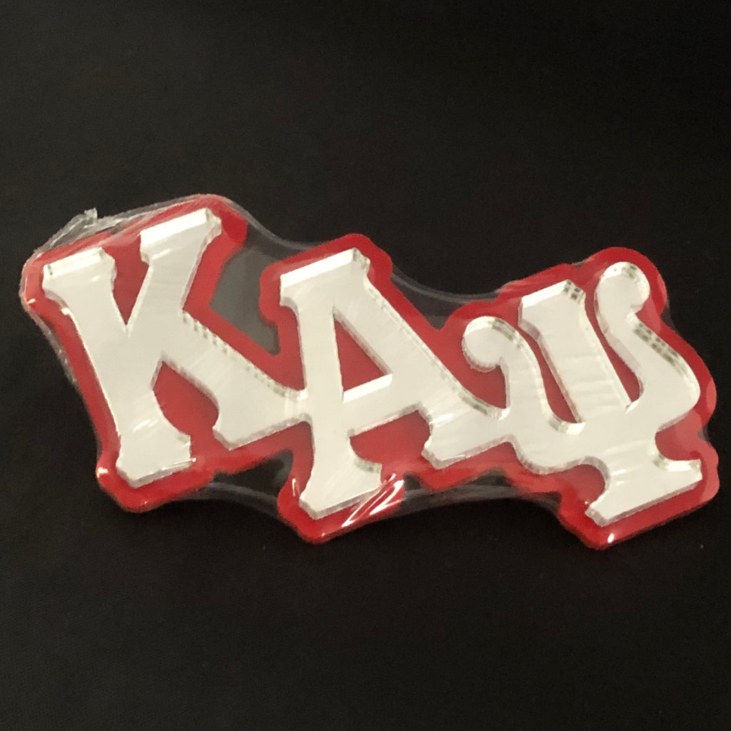 Large Acrylic Mirror Greek Letters Pin - Kappa