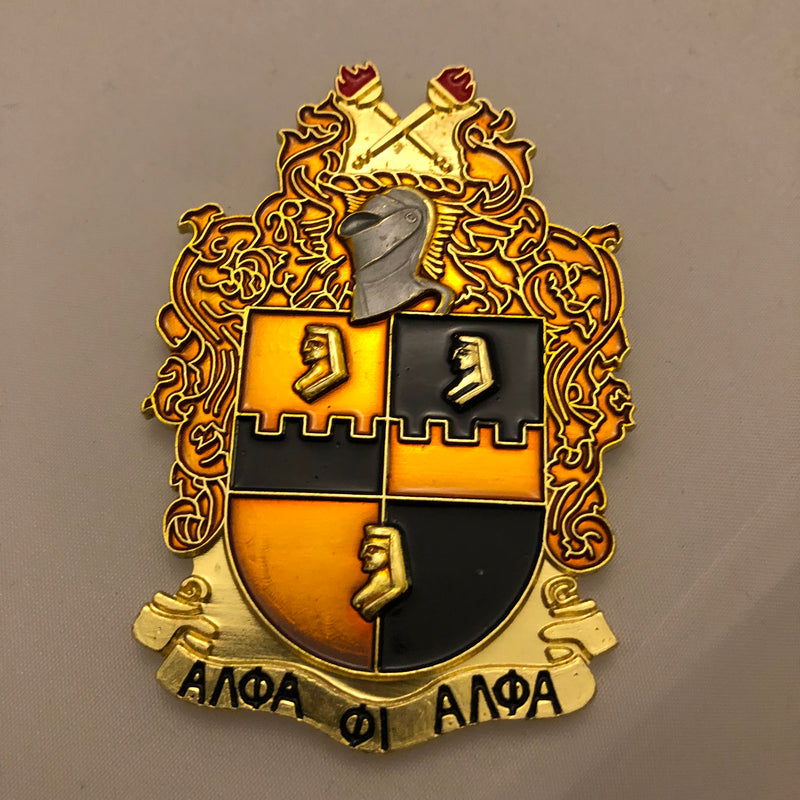 Alpha Die Cut Shield Emblem