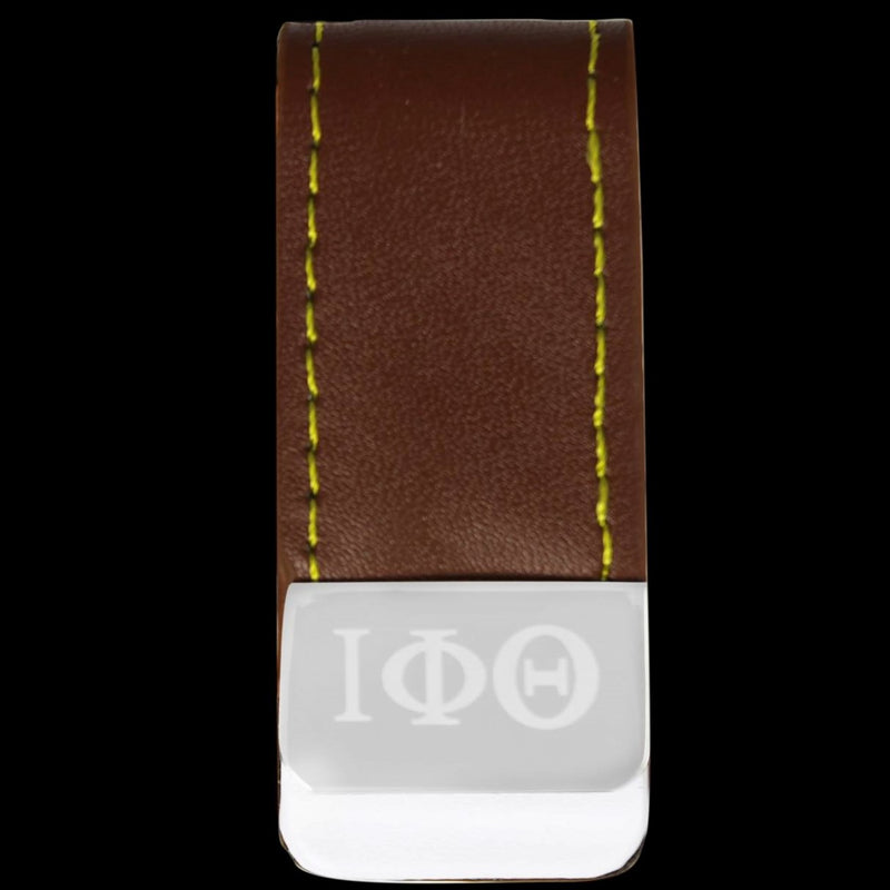 Leather Money Clip Holder - Iota