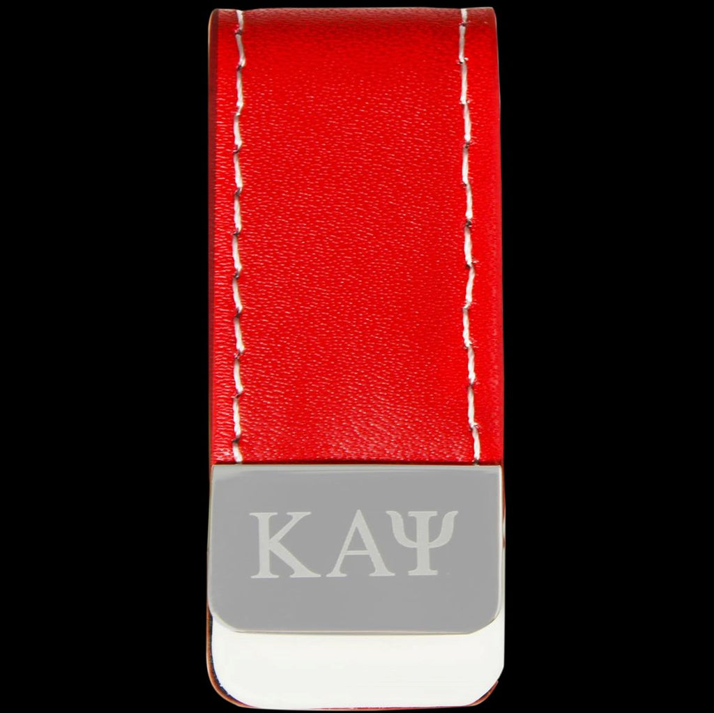 Leather Money Clip Holder - Kappa