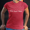 Delta UCAC Embroidered Letters with script T-shirt