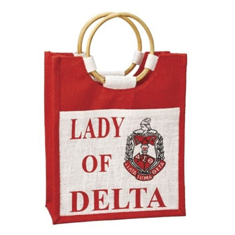 Lady of Mini Pocket Jute Bag - Delta