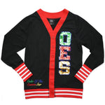 OES Sequin Patch Cardigan