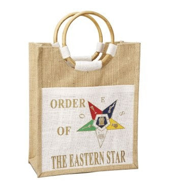 Order of The Eastern Star Mini Pocket Jute Bag - OES