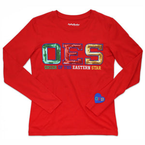OES Long Sleeve Sequin T-shirt
