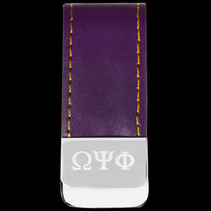 Leather Money Clip Holder - Omega