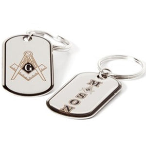 Reversible Dog Tag Key Chain - Mason