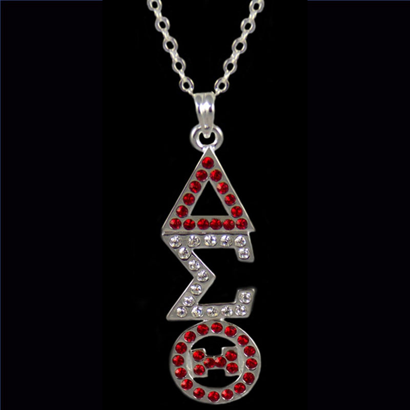 Austrian Crystal Pendant Necklace - Delta