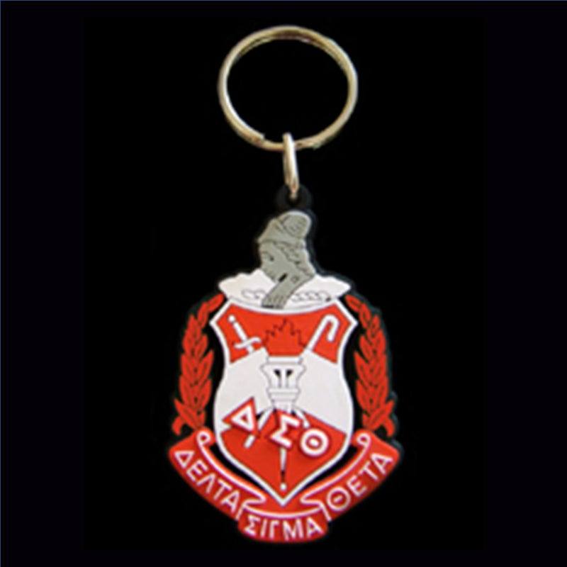 Shield PVC Key Chain - Delta