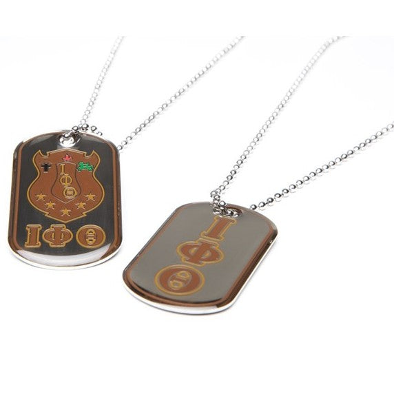 Reversible Dog Tag Necklace - Iota