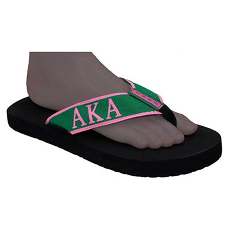 AKA Flip Flops with Satin Shoe Bag