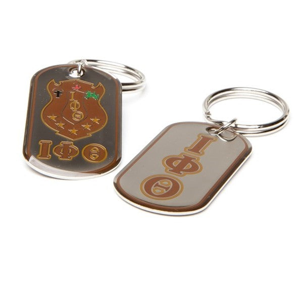 Iota Reversible Dog Tag Key Chain
