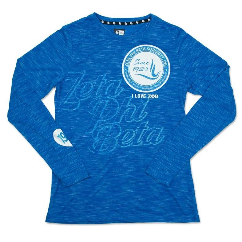 Zeta Long Sleeves I Love T-Shirt - Discontinue Item
