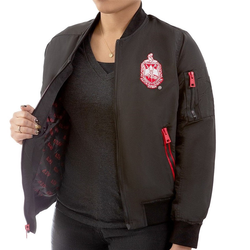 Delta Satin Bomber Jacket