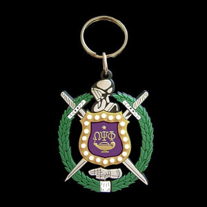 Shield PVC Key Chain - Omega