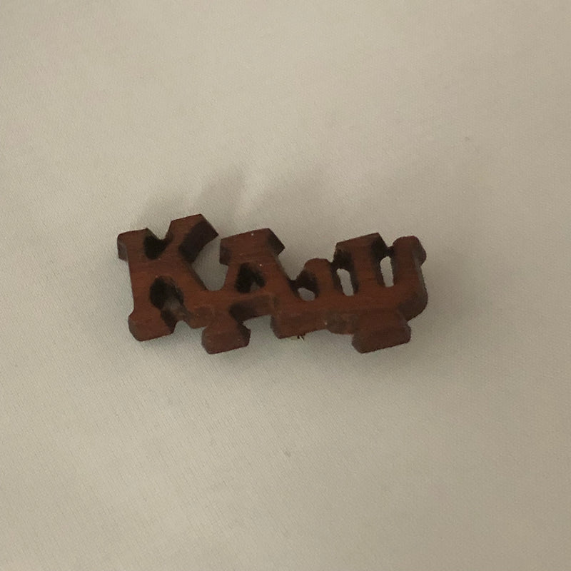 Kappa Small Wood Greek Letters Lapel Pin