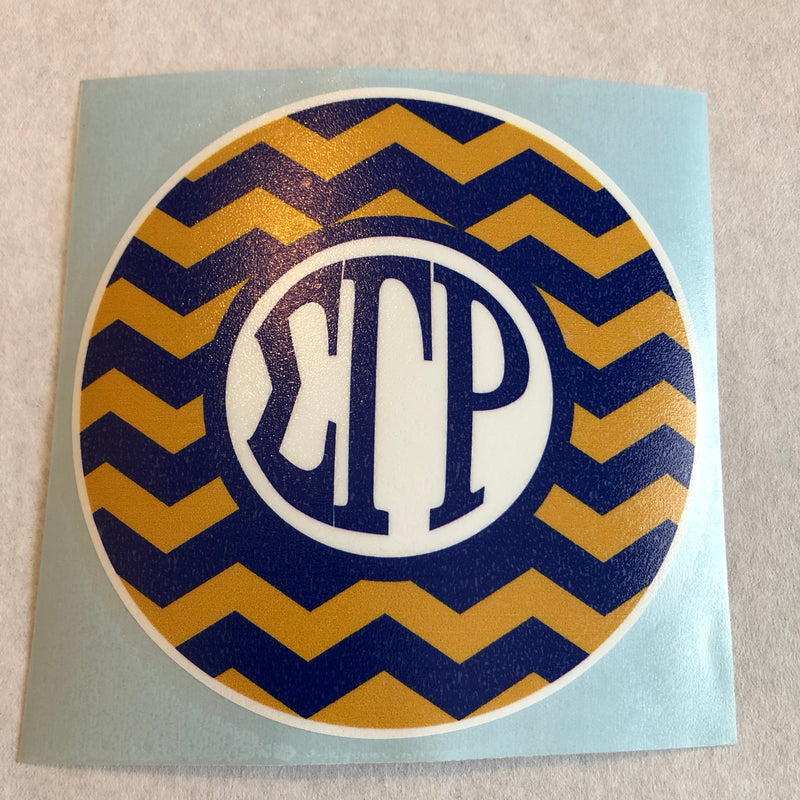 SGRho Chevron Window Decal