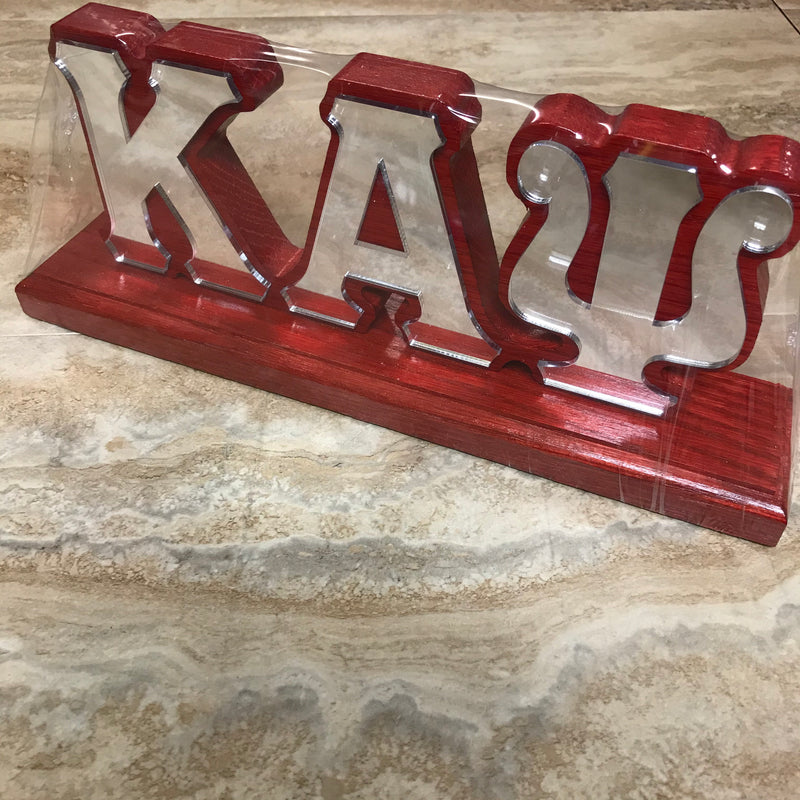 Kappa Desk Top Letters with Color Base