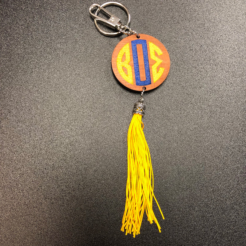 SGRho BOS Wood Tassel Key Chain