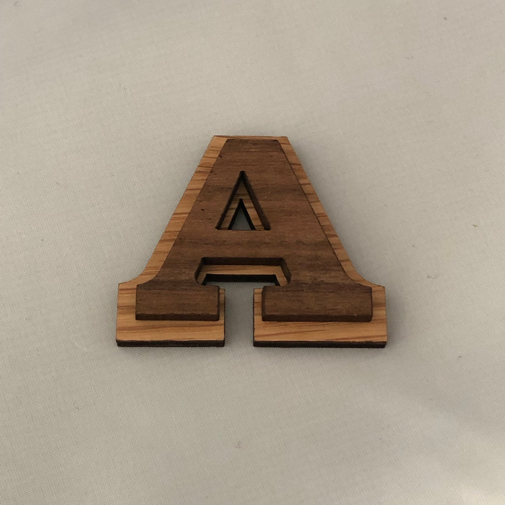 Wood Double Letters 1 5/8 inches