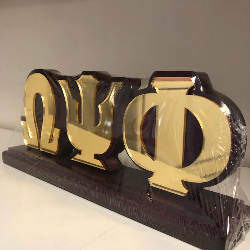 Omega Desk Top Letters with Color Base
