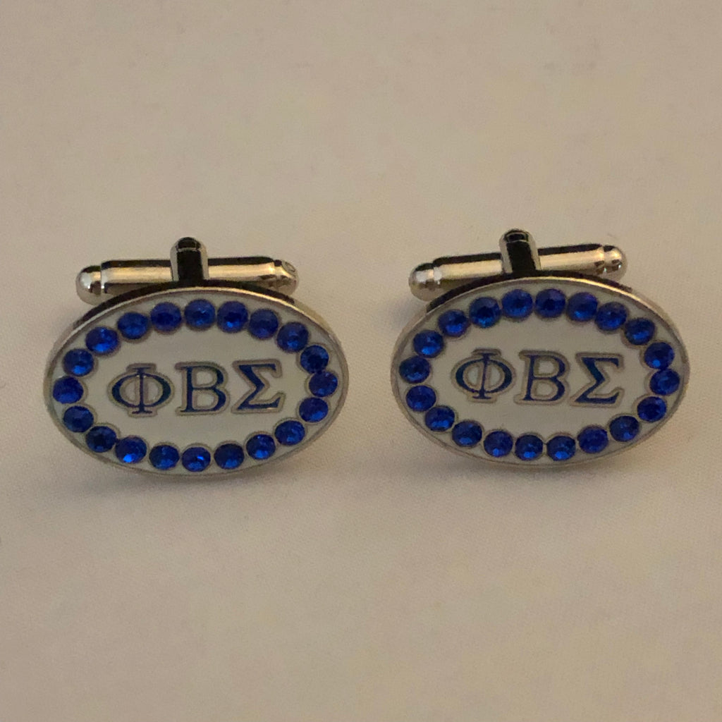 Sigma Cuff Links with Swarovski Austrian Crystals