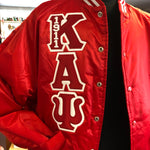 Kappa Satin Baseball Jacket (Quilted Lined) DS