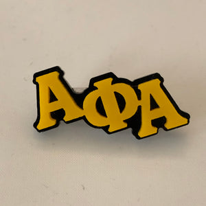 Alpha Small Acrylic Greek Letters Lapel Pin