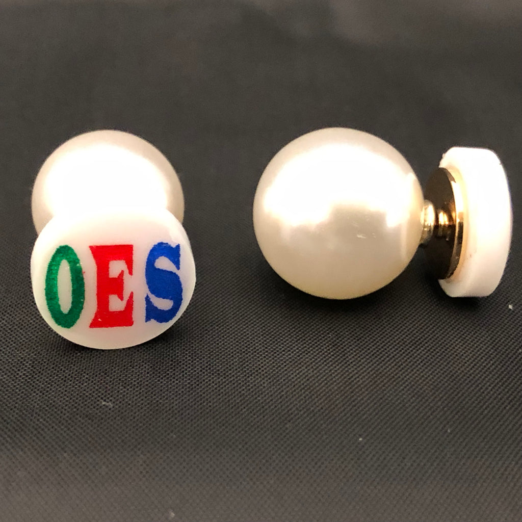 Big Pearl Back Earrings - OES