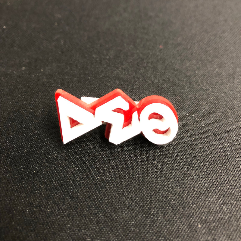 Delta Small Acrylic Greek Letters Lapel Pin