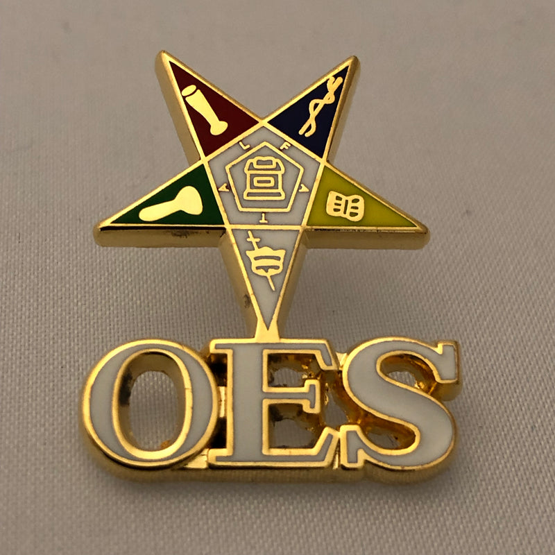 OES Shield with letters Lapel