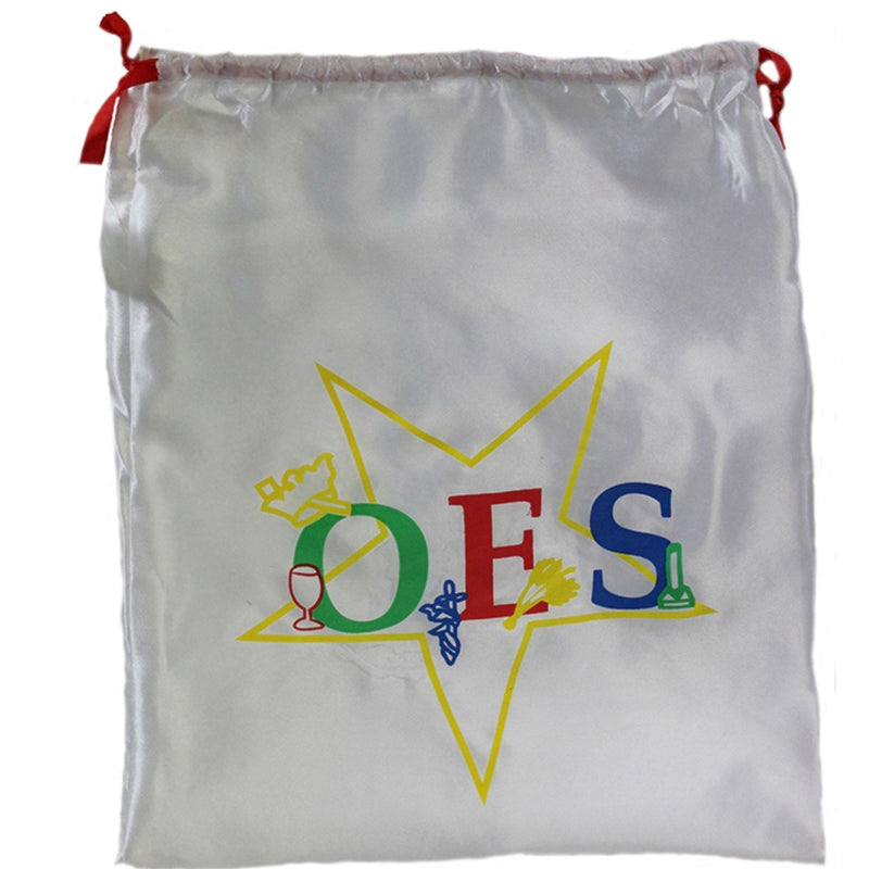 OES Drawstring Satin Shoe Bag
