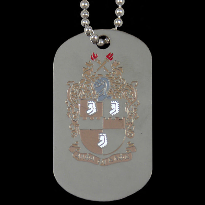 Alpha Double Sided Dog Tag