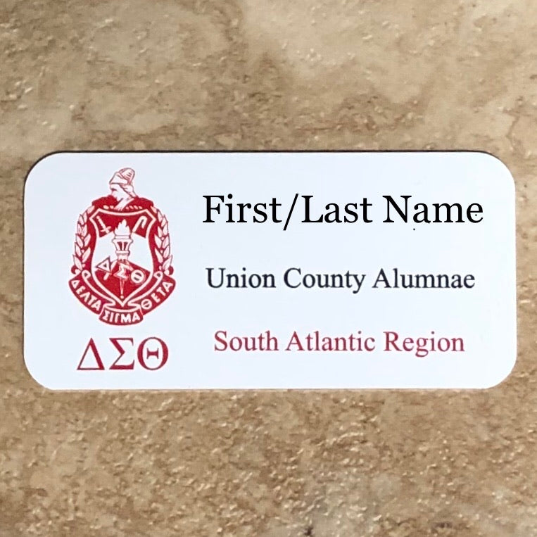 Delta UCAC Chapter Name Tag