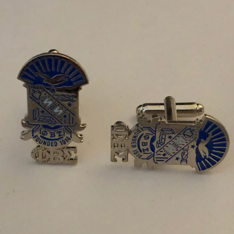 Sigma Shield with Letters Cuff Links