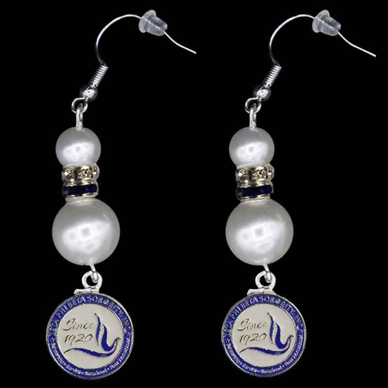 Zeta Pearl Earrings with Seal Charm